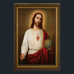 """Sacred Heart of Jesus Poster<br><div class=""""desc"""">This is the image that Gabriel Garcia Moreno had painted to consecrate the Republic of Ecuador to the Sacred Heart, making it the 1st country ever to do this & nicknamed the Republic of the Sacred Heart. Freemasons tried to find it, after they martyred Moreno, to destroy it. It was...</div>"""