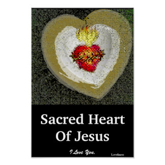 Sacred Heart Of Jesus Poster-Customize Poster