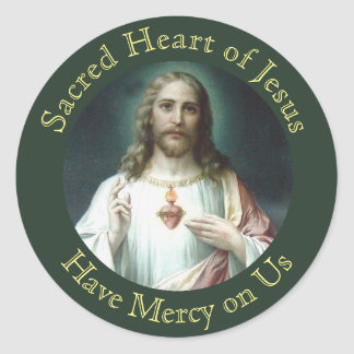 Sacred Heart of Jesus Prayer Classic Round Sticker