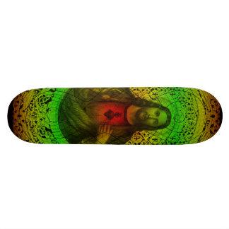 Sacred Heart Of Jesus Rastafari Skateboard