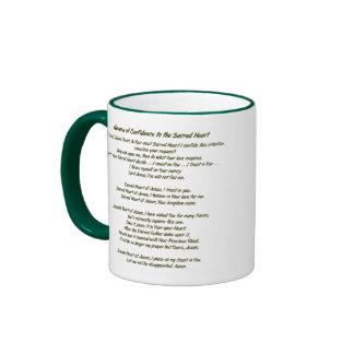 Sacred Heart of Jesus Ringer Coffee Mug