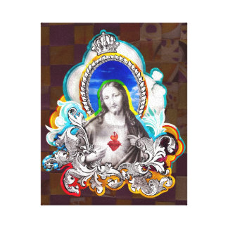Sacred Heart of Jesus (Sacred Heart) Stretched Canvas Prints