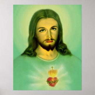Sacred Heart of Jesus  Sagrado Corazon de Jesus Poster