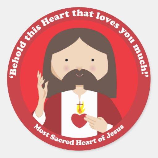 Sacred Heart of Jesus Round Sticker