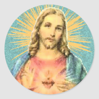 Sacred Heart of Jesus Round Stickers