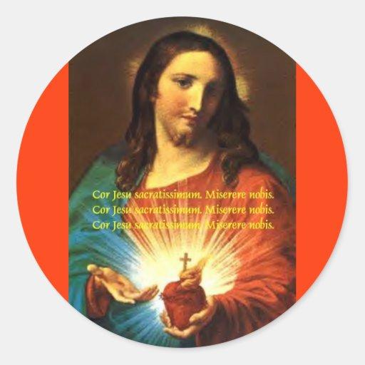 SACRED HEART OF JESUS STICKER CORJESU