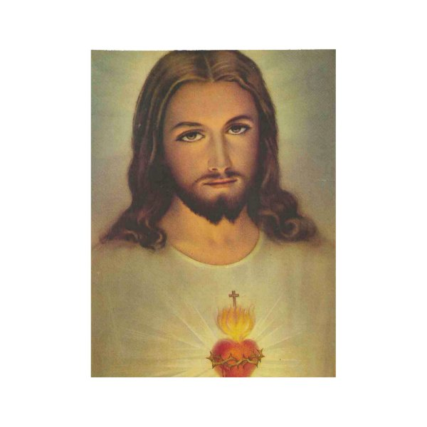Sacred Heart of Jesus Wood Poster
