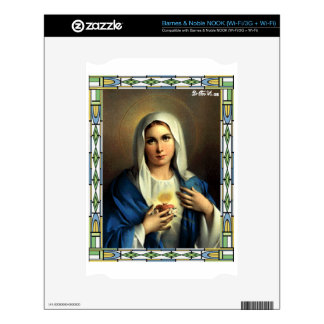 SACRED HEART OF MARY 09 CUSTOMIZABLE PRODUCTS NOOK DECALS