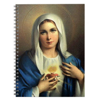 SACRED HEART OF MARY 09 CUSTOMIZABLE PRODUCTS SPIRAL NOTEBOOK