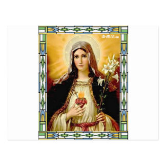 SACRED HEART OF MARY 10 CUSTOMIZABLE PRODUCTS POSTCARD