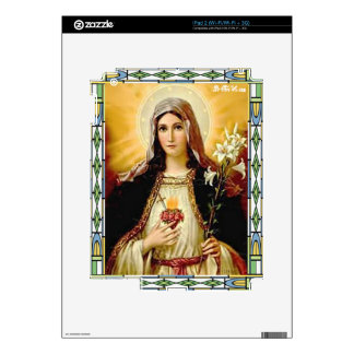 SACRED HEART OF MARY 10 CUSTOMIZABLE PRODUCTS SKIN FOR THE iPad 2