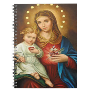 SACRED HEART OF MARY 12 CUSTOMIZABLE PRODUCTS SPIRAL NOTEBOOK