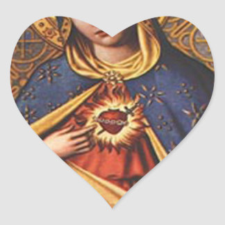 SACRED HEART OF MARY 25 CUSTOMIZABLE PRODUCTS HEART STICKER