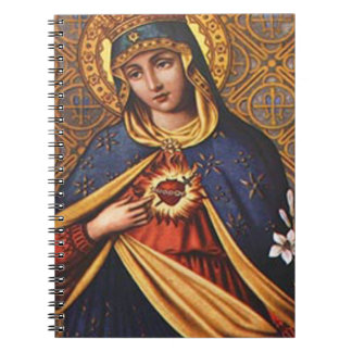 SACRED HEART OF MARY 25 CUSTOMIZABLE PRODUCTS SPIRAL NOTEBOOK
