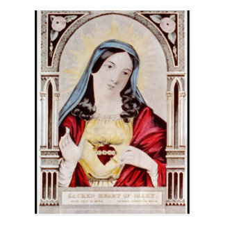 Sacred Heart of Mary Postcard