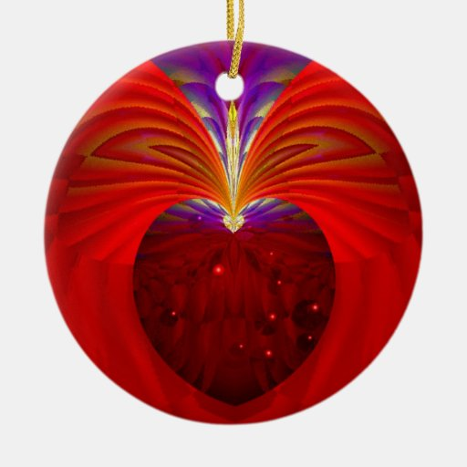 Sacred Heart Double-Sided Ceramic Round Christmas Ornament