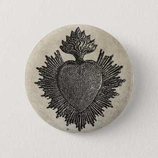 Sacred Heart Pinback Button