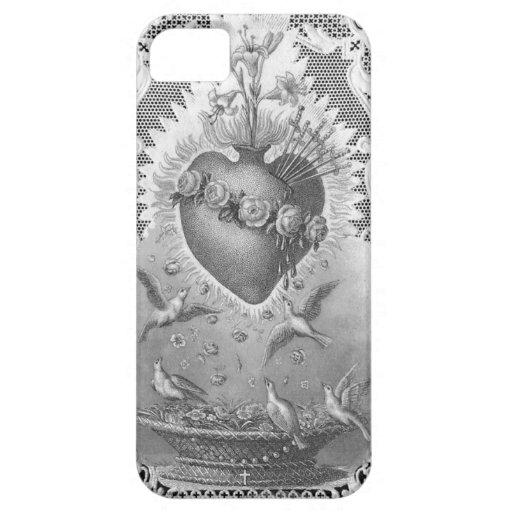 Sacred Heart Prayer Antique Vintage Art Phone Case iPhone 5 Case