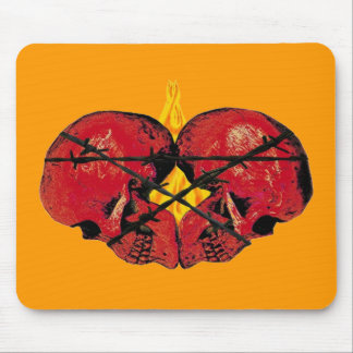 SACRED HEART SKULLS MOUSE PAD