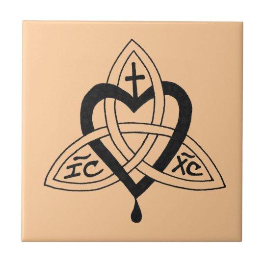 Sacred Heart/Trinity Knot Tile