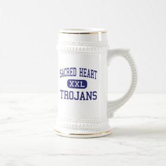 Sacred Heart - Trojans - High - Ville Platte 18 Oz Beer Stein