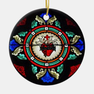 Sacred Hearts of Jesus & Mary Ornament