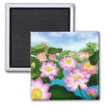 Sacred Lotus Flowers Refrigerator Magnet