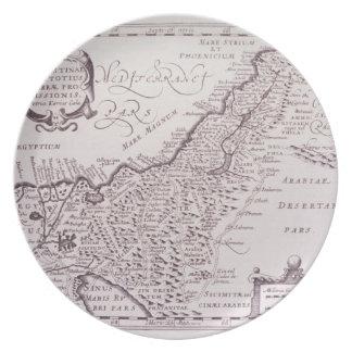 Sacred Map of Palestine, The Promised Land Melamine Plate