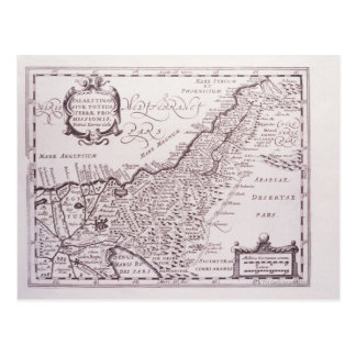 Sacred Map of Palestine, The Promised Land Postcard