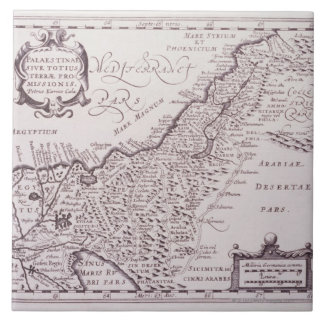 Sacred Map of Palestine, The Promised Land Tile