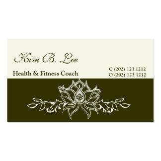 Sacred Modern Artistic White Lotus Business Card