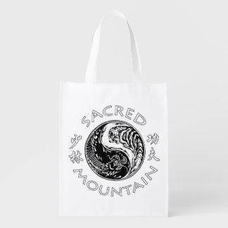 Sacred Mountain Fighting and Healing Arts Grocery Reusable Grocery Bags