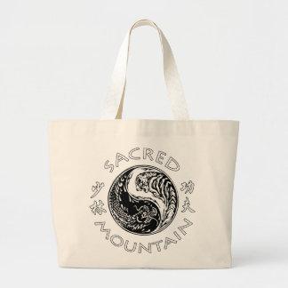 Sacred Mountain Fighting and Healing Tote Jumbo Tote Bag
