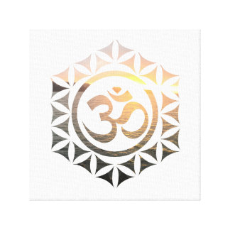 Sacred Om Elements Canvas Print