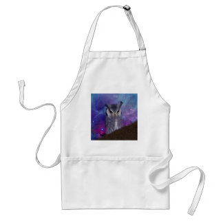 Sacred owl and fantasy sky adult apron