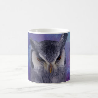 Sacred owl and fantasy sky coffee mug