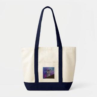 Sacred owl and fantasy sky tote bag