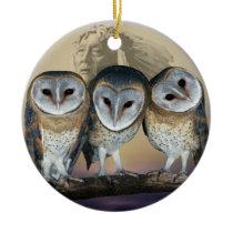 Sacred Owl North American Indian Ceramic Ornament
