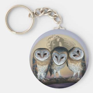 Sacred Owl North American Indian Keychain