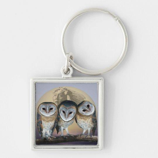 Sacred owls keychain