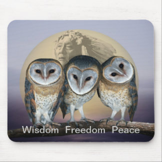 Sacred owls mouse pads