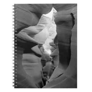 """Sacred Passage"" Antelope Canyon Spiral Notebook"