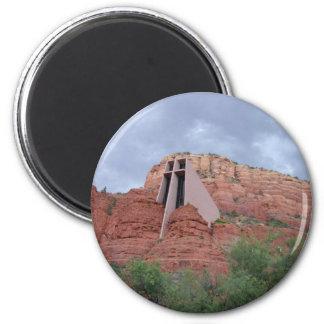 Sacred Places -Chapel of the Holy Cross Sedona, AZ Fridge Magnet