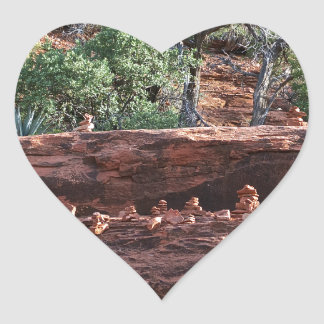 sacred rock pile army heart sticker