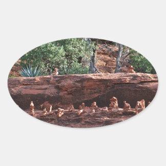 sacred rock pile army oval sticker