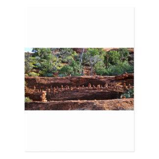 sacred rock pile army postcard