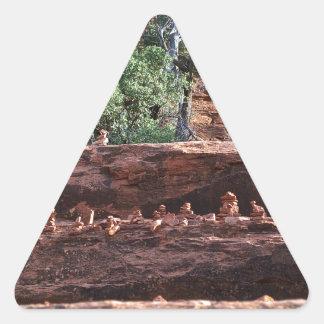 sacred rock pile army triangle sticker