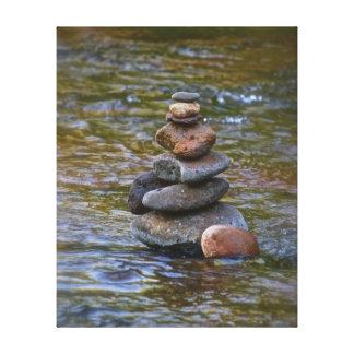 Sacred rock pile Sedona Creak Canvas Print