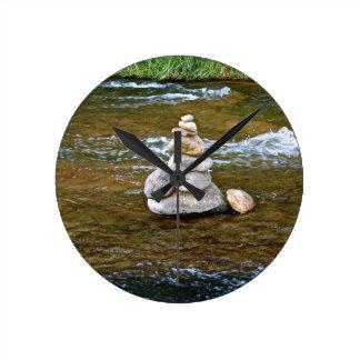 Sacred rock pile Sedona Creak Round Clocks