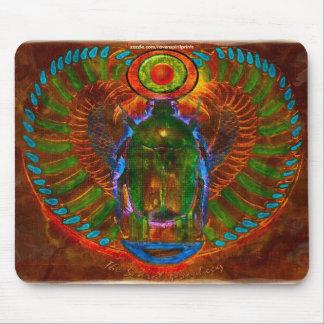 Sacred Scarab Beetle Ancient Egyptian Art Mousepad